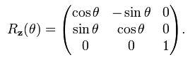 Matrice de rotation